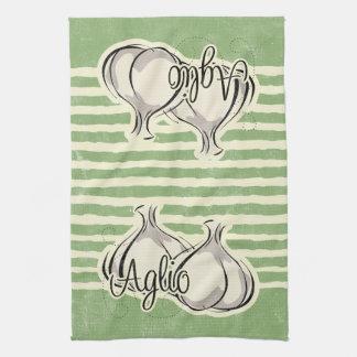 Toalla de cocina italiana del ajo