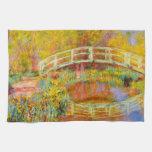 Toalla de cocina japonesa del puente de Monet