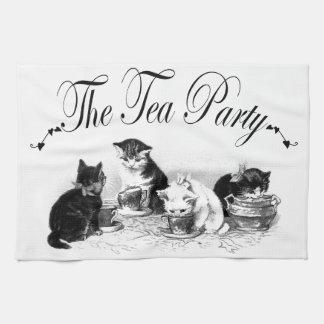toalla de cocina linda de la fiesta del té de los