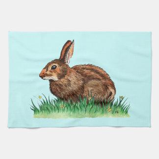 toalla de cocina linda del conejo