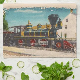 Toalla de cocina locomotora de Glenbrook del vinta
