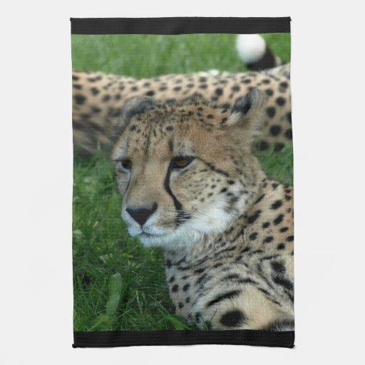 Toalla de cocina manchada del guepardo