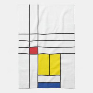 Toalla de cocina minimalista del arte de Mondrian