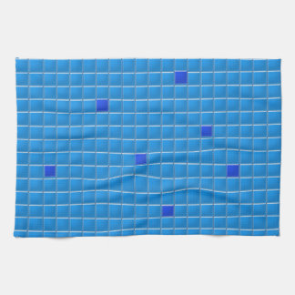 Toalla de cocina - mosaico cuadrado azul