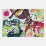 Toalla de cocina negra del arco de Kandinsky