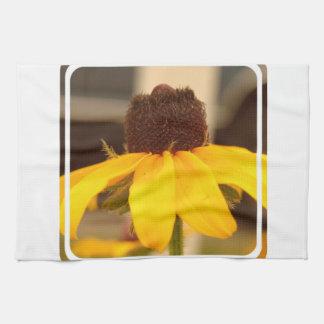 Toalla de cocina observada negro del flor de Susan