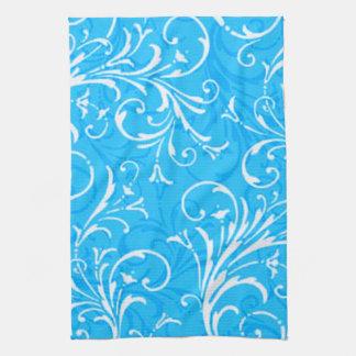 Toalla de cocina ornamental azul