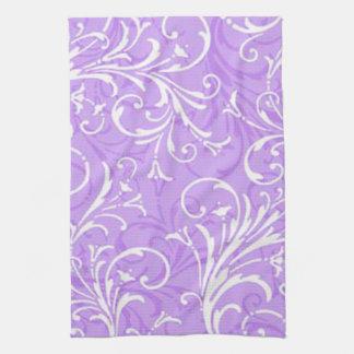 Toalla de cocina ornamental púrpura