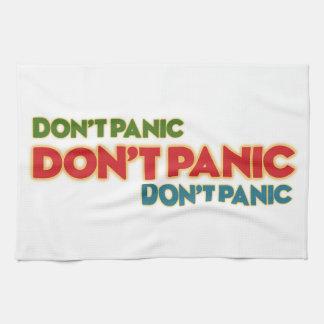 """Toalla de cocina """"pánico del ` t de Don """""""