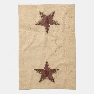 Toalla de cocina perforada de la estrella de la la