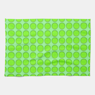 Toalla de cocina - puntos verdes en fondo verde