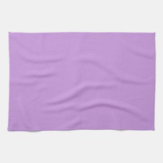 Toalla de cocina púrpura de la lavanda sólida