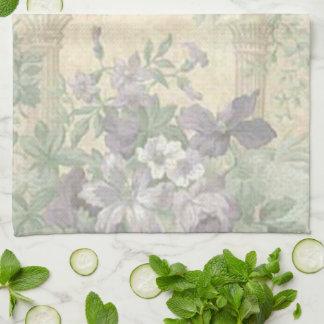 Toalla de cocina púrpura del jardín de flores