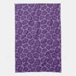 Toalla de cocina púrpura femenina del modelo del l