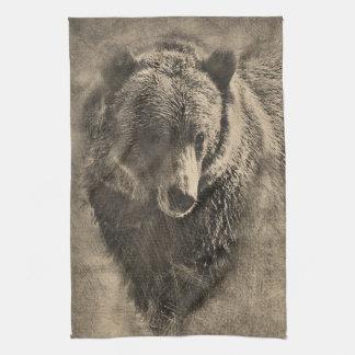 Toalla de cocina que ofrece el ejemplo del oso