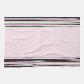Toalla de cocina rayada rosada
