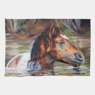 Toalla de cocina salvaje del caballo de río