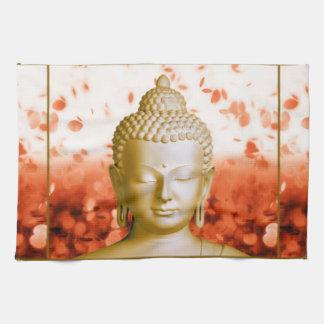 Toalla de cocina serena de Buda
