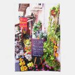 Toalla de cocina siciliana de la mercado de la fru