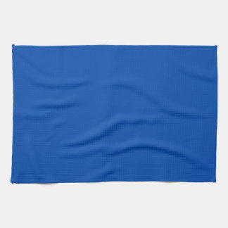 Toalla de cocina sólida del azul de cobalto