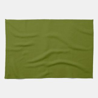 Toalla de cocina sólida del verde verde oliva