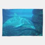 Toalla de cocina subacuática del delfín