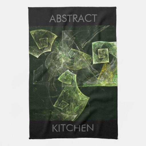Toalla de cocina torcida del arte abstracto de la
