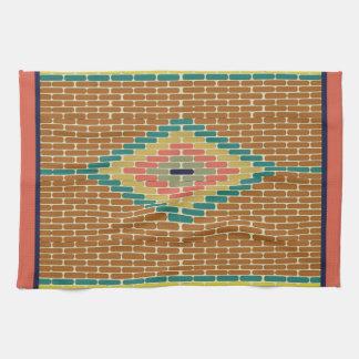 Toalla de cocina urbana de las tejas de mosaico