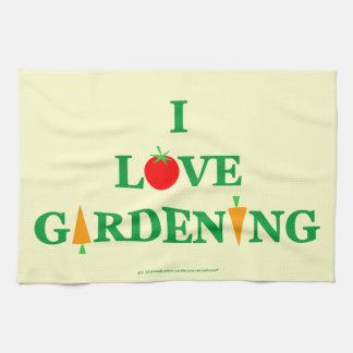 Toalla de cocina vegetal lista del jardinero