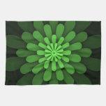 Toalla de cocina verde abstracta