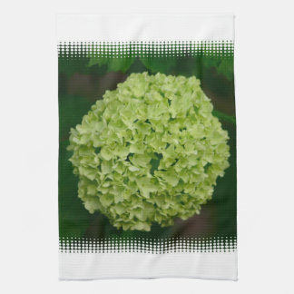 Toalla de cocina verde del Hydrangea