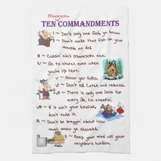 Toalla de diez mandamientos de Minnesota