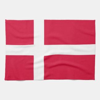 toalla de la bandera de país de Dinamarca