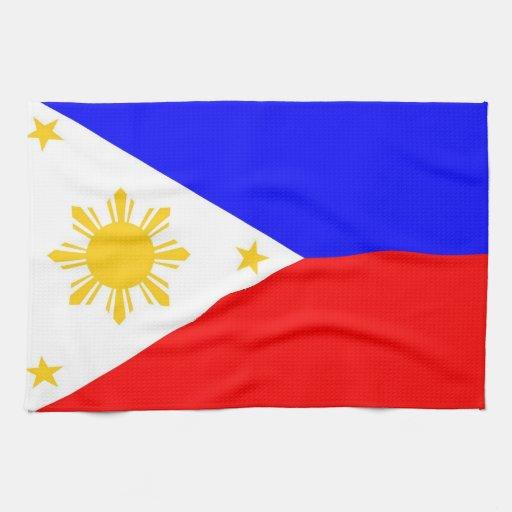 toalla de la bandera de país de Filipinas