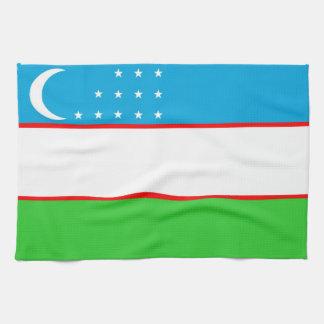 toalla de la bandera de país de Uzbekistán
