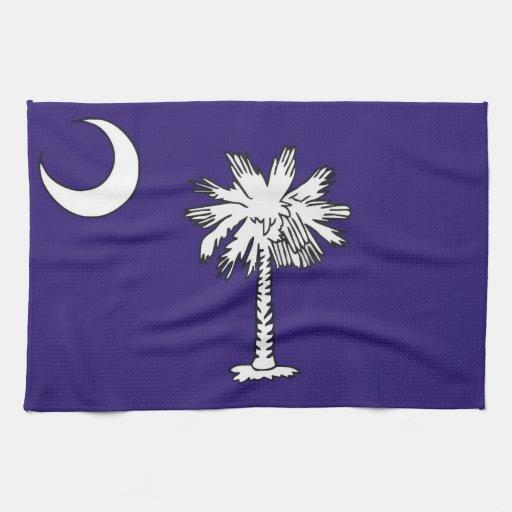 toalla de la bandera del estado de Carolina del Su