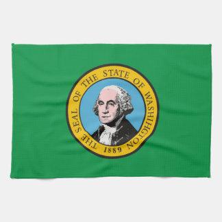 toalla de la bandera del estado de Washington los