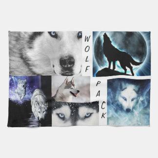 toalla de la manada de lobos