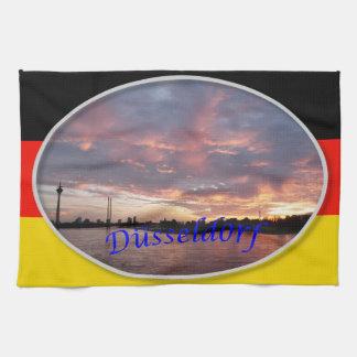 Toalla de la puesta del sol de Düsseldorf