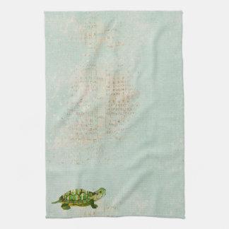 Toalla de la tortuga del jade