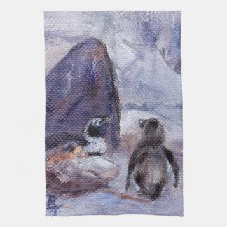 Toalla de los pingüinos de la jerarquización
