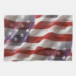 Toalla de mano de la bandera americana
