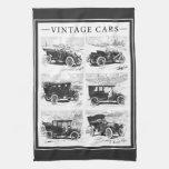 Toalla de mano de los coches del vintage