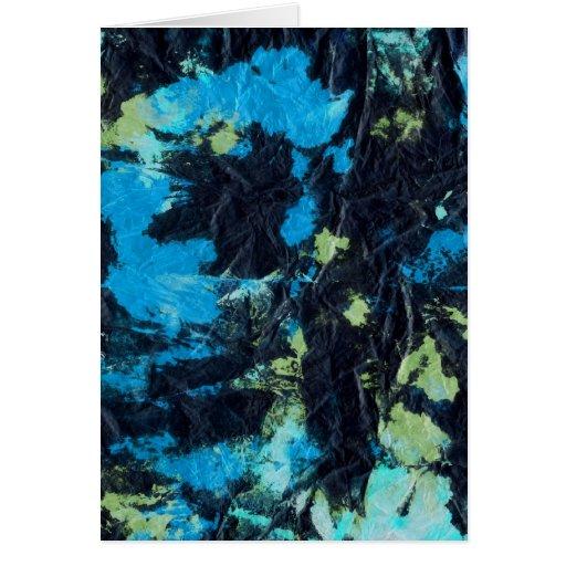 toalla de papel arrugada negro amarillo azul felicitación
