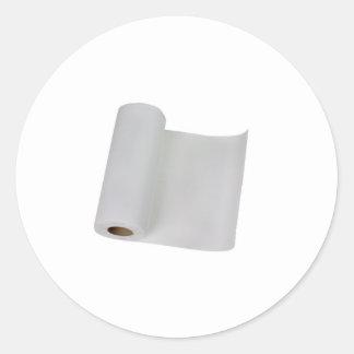 Toalla de papel pegatina redonda