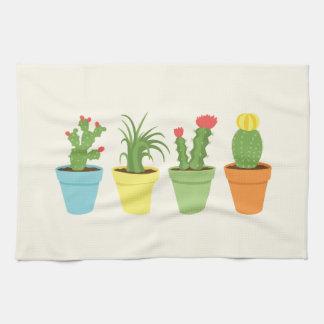 Toalla de plato del cactus