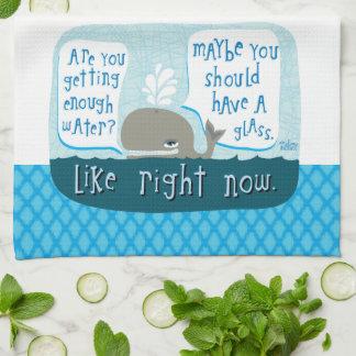 toalla de plato linda de la ballena