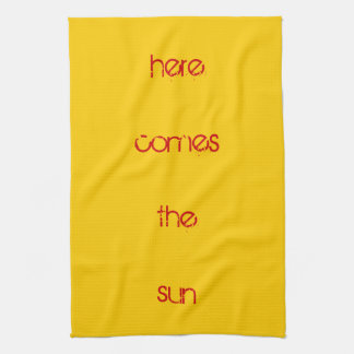 Toalla de té - aquí viene el sol