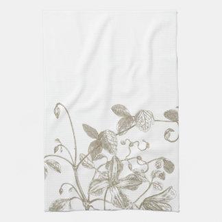 Toalla de té botánica de la vid floreciente