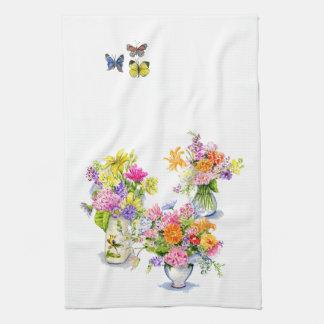 toalla de té de la flor